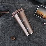 Thermos in Acciaio Inox - Tazza da Caffè / Tè Viaggio Termico Bottiglia con Gatto Vacuum Portatile Senza bpa da Pingenaneer, 500 ml (Marrone)