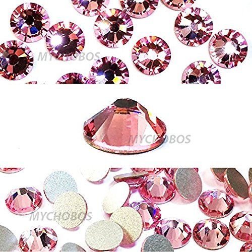 Zipperstop Light Rose (223) pink Swarovski New 2088 XIRIUS Rose 20ss 5mm Flatback No-Hotfix Rhinestones ss20 144 pcs (1 Gross) from Mychobos (Crystal-Wholesale) -