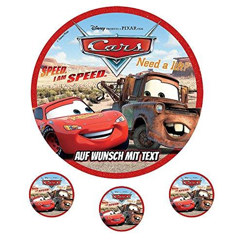 Tortenaufleger Geburtstag Tortenbild Zuckerbild Oblate Motiv: Disney Cars 09 (Zuckerpapier) (Kuchen Disney Cars)