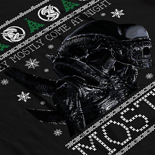 Xenomorph Aliens Christmas Knit Men's Vest Black