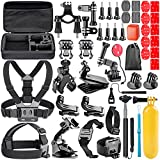 Neewer 44-In-1 Action Camera Accessory Kit for GoPro Hero Session/5 Hero 1 2 3 3+ 4 5 SJ4000 5000 6000 DBPOWER AKASO VicTsing APEMAN WiMiUS Rollei QUMOX Lightdow Campark And Sony Sports DV and More