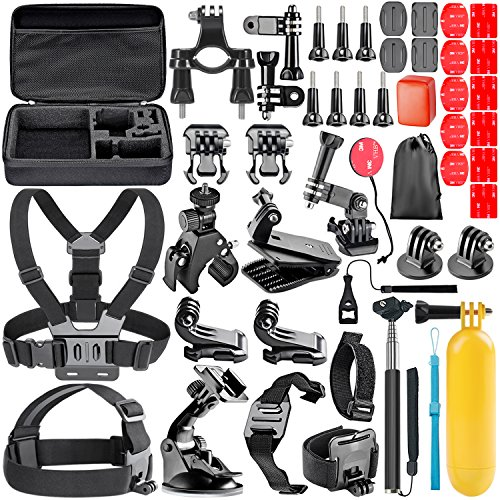 Neewer All-In-1 Acción - Kit de Accesorios de Cámara para GoPro Hero Session / 5 Hero 1 2 3 3+ 4 5 SJ4000 5000 6000 DBPOWER AKASO VicTsing APEMAN WiMiUS Rollei Lightdow Campark Y Sony Deportes DV y Más
