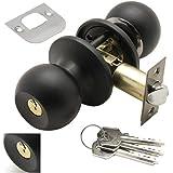 Wolfpack 3030580 deurknop met slot aan beide zijden en sleutels, zwart