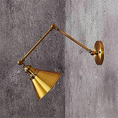 E27 European Style Industrial Retro Luxury Bronze Long Arm Wall Light Bedroom Bedside Restaurant Bar Cafe Mall Retractable Swing Arm Wall Lamp Indoor Decor Iron Sconce Creative Multi-Armed Lights from NOHOPE