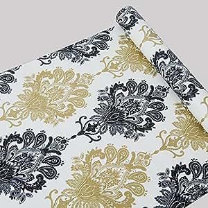 autocollant papier peint damass papier contact shelf. Black Bedroom Furniture Sets. Home Design Ideas