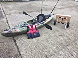 Cambridge Single sitzen in Angeln Kajak mit Trolley + Gratis Spray Deck M Jungle Camo - 3