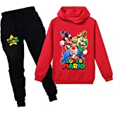 Super Mario - Sudadera con capucha para bebé y niños, juego de dibujos animados, ropa de ocio para niños y niñas, ropa de dor