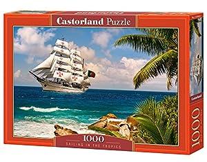 CASTORLAND Sailing in The Tropics 1000 pcs Puzzle - Rompecabezas (Puzzle Rompecabezas, Paisaje, Niños y Adultos, Niño/niña, 9 año(s), Interior)