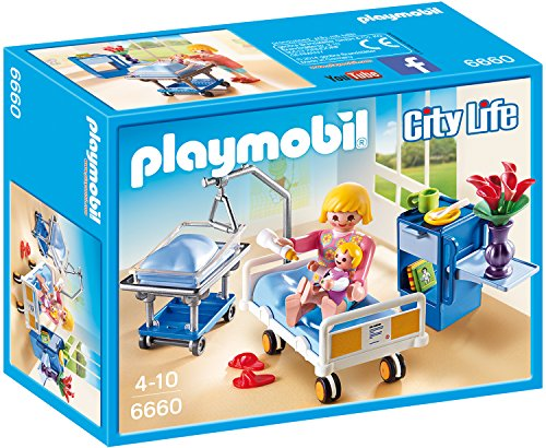 Preisvergleich Produktbild PLAYMOBIL 6660 - Krankenzimmer mit Babybett