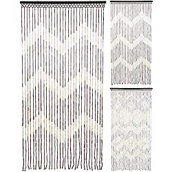 Carousel Home and Gifts Cortina de bambú para puerta (90 x 180 cm), diseño de moscas