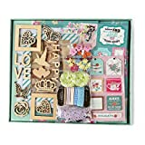 "FaCraft Scrapbook Kit,Elegant Scrapbooking Kit with Pages Protecters Pockets (10.5""x9"",Green)"