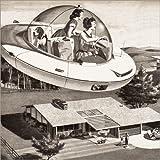 Póster 50 x 50 cm: Woman Driving Flying Saucer de Bridgeman Images - impresión artística, Nuevo póster artístico