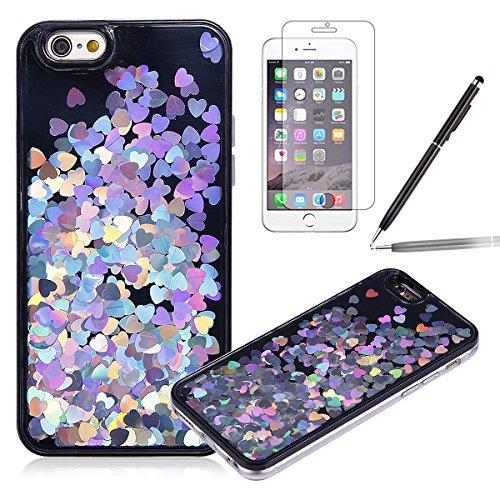 Felfy-iPhone-7-CoqueiPhone-7-Etui-Transparent-3D-Creative-Housse-Coque-Hard-Plastic-Liquide-Coque-Bling-Etui-Plastic-Case-Cover-tui-de-protection-Housse-Cristal-dur-Plastique-Cover-Transparent-Clair-C