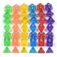 Entretenimiento Juego de mesa Juego de 7juego DADOS Dungeons Dragons d & D RPG claro color elección + bolsa Set, Transparente Verde