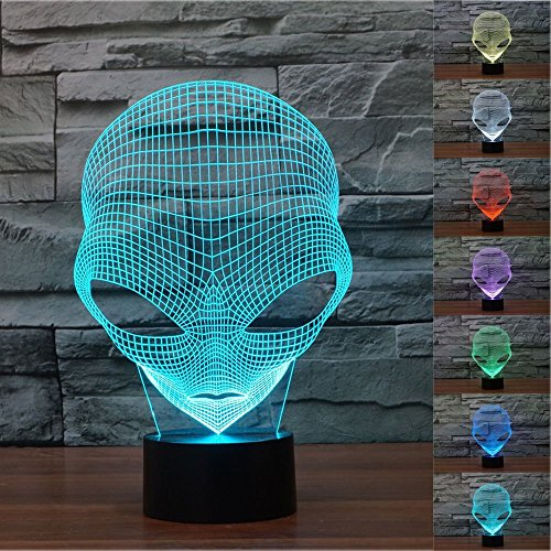 Beautystar illusione 3d lampada luce notturna Martian 7Cambiare colore Touch USB tavolo regalo giocattoli decorazioni