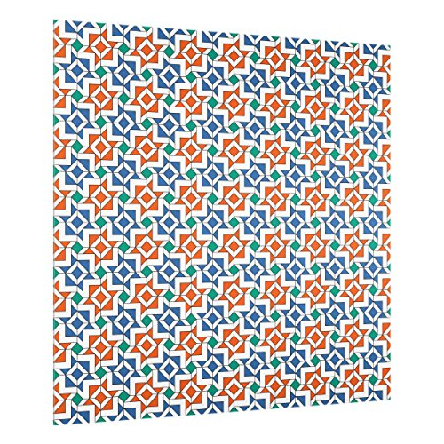 chutz Glas - Alhambra Mosaik mit Fliesenoptik - Quadrat 1:1, 59cm x 60cm ()