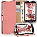 moex Samsung Galaxy S3 | Hülle Korall mit Karten-Fach 360° Book Klapp-Hülle Handytasche Kunst-Leder Handyhülle für Samsung Galaxy S3 / S III Neo Case Flip Cover Schutzhülle Tasche