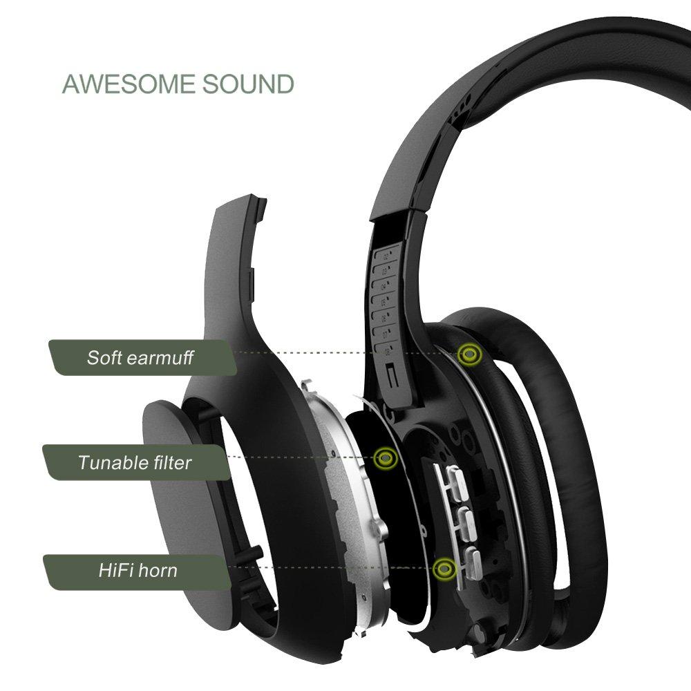 2d03624f2 Auriculares Bluetooth de Diadema Inalámbricos, Yutre Cascos Bluetooth  Plegable con Micrófono Manos Libres ...