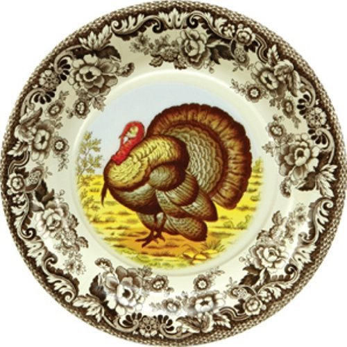 CR Gibson Woodland 8-Inch Spode Appetizer/Dessert Paper Plates, 8-Pack by C.R. Gibson Spode 8 Zoll