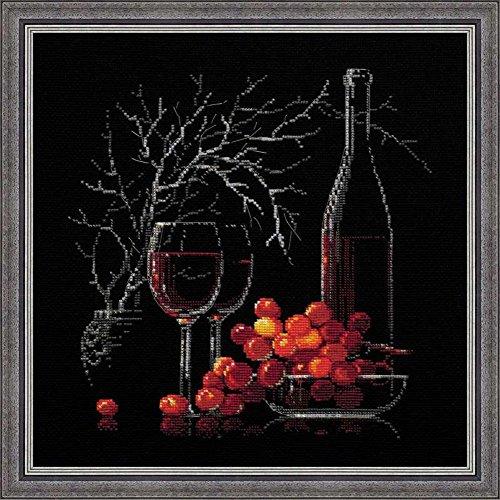 RIOLIS - Kit per punto croce contato, natura morta con vino rosso, multicolore - Contati Punto Croce Tessuto
