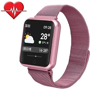 TechCode Relojes Inteligentes Mujeres, Activity Tracker Reloj con Monitor de Ritmo cardíaco Pulsera Inteligente Pulsera