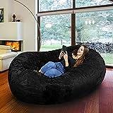 Riesiger Giga Sitzsack mit Memory Schaumstoff Füllung und Waschbarem Bezug - Gemütliches Sofa, Riesen Bett, Kuschelige