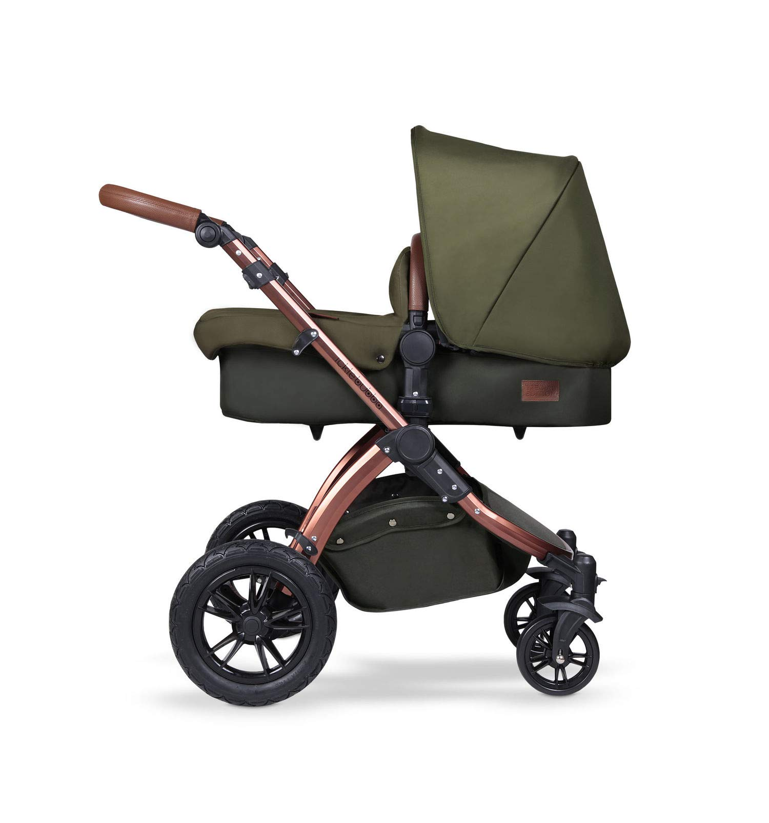 Ickle Bubba Stroller, Baby Travel System | Bundle incl Rear and Forward-Facing Pushchair, Car Seat, ISOFIX Base, Carrycot, Footmuff and Raincover | Stomp V4 Special Edition, Woodland Chrome Ickle Bubba DO-IT-ALL TRAVEL SYSTEM: Features luxury carrycot, reversible pushchair, and Galaxy Group 0+ lined car seat and ISOFIX base. Easy-click release allows for quick transitions between car and stroller LIGHTWEIGHT, QUICK FOLD: 6.5kg chassis with wheels. BUILT IN STORAGE: Matching stow away bottom basket with high sides for increased storage; changing bag with shoulder strap and mats included FORWARD AND PARENT FACING TODDLER SEAT: The multi-position recline allows your child to lie comfortably for naps or sit upright to take in the sights. 3