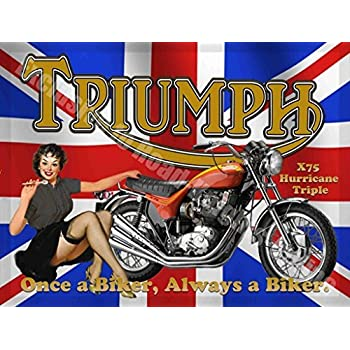 Triumph Bonneville T120 Quality Metal Sign 200mm x 285mm x 1mm