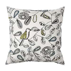 IKEA SNABBVINGE - Housse de coussin, blanc, multicolore - 50x50 cm