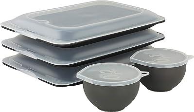 K&G PT250 Hochwertige Aufschnitt-Boxen 3 Stück stapelbar Stapelboxen Vorratsdosen Servierplatte Foodcenter + Frischhaltedosen 3 Stück 0,2 L BPA frei