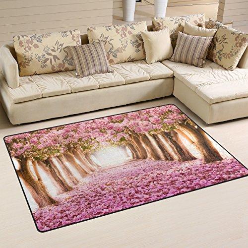 naanle Japan japanische Kirschblüten rutschfeste Bereich Teppich für Living Eßzimmer Schlafzimmer...