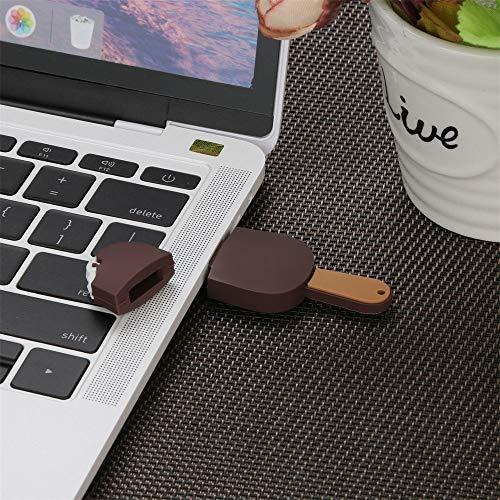 TAOtTAO 4G / 8G / 16G / 32G / 64G / 128G Creative U-Datenträger USB 2.0 Flash-Laufwerk Neuheit Schokoladeneis Form Stift U-Scheibe Mariniertes Ei (B, 128G) - 16g 16 Gb Usb