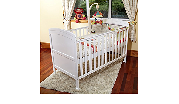 POPPY/'S PLAYGROUND NEW PENELOPE COTBED//JUNIOR BED-POCKET SPRUNG MATTRESS-WHITE