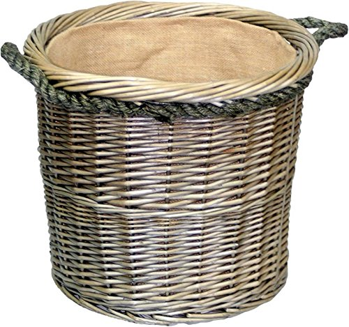 Wickerwarehouse - Lavar media antigua de la cuerda redonda tratado cesta entrar