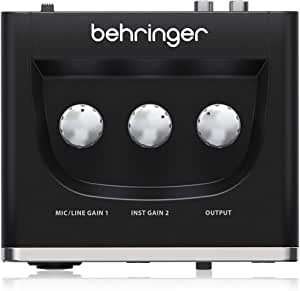 Behringer U Phoria Audio Schnittstelle Audioschnittstelle 1 Channel Schwarz Musikinstrumente