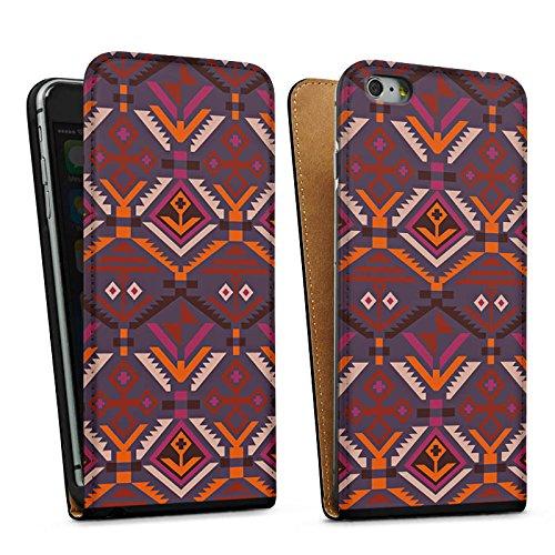 Apple iPhone SE Housse Outdoor Étui militaire Coque Ethnique Automne Motif Aztèques Sac Downflip noir