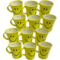 Kids Trends Smiley Mugs for,Return Gifts for Kids Birthday Party (Pack of 12)