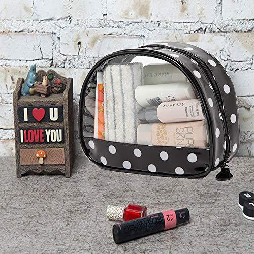 KOBWA Transparente Kulturbeutel, Portable Klare Reise-Verfassungs-Beutel-Reißverschluss-wasserdichte Transparente Spielraum-Speicher-kosmetische Toilettenartikel-Organisator-Tasche mit Griff