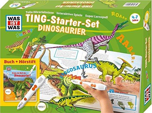 TING Starterset Dinosaurier. Buch + Hörstift: 450 Hörerlebnisse, Bilder und Texte zum Antippen, lustige Dialoge + Reime (TING - Spielen, Lernen, Wissen)