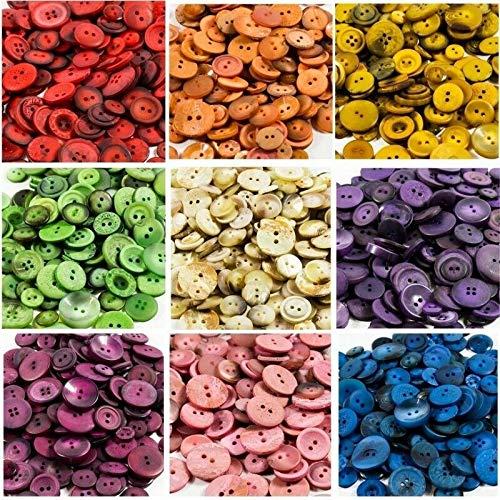 Knöpfe zum Nähen, 1,5 kg, verschiedene Farben - Zeitgenössische Porzellan-knöpfe