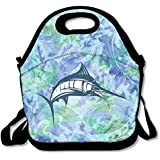 Black Marlin Fish Swordfish Lunch Bags For Man And Woman