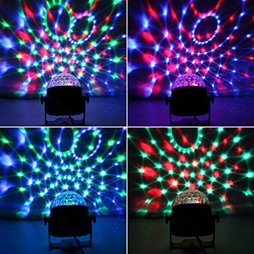 Missyee® Mini Disco Licht DJ Licht Partylicht Bühnenbeleuchtung RGB kristall Magic Ball Lichter Wirkung Bühnenlicht Für KTV Xmas Party Hochzeit Zeigen Club Pub Farbe Weihnachten Beleuchtung mit Fernbedienung(1pack) - 5