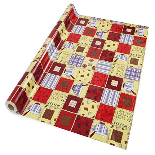 casa pura Wachstischdecke Crazy Quilt | abwaschbar | ideale Größe wählbar, Meterware (260x140cm)