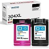SMARTOMI - Multipack de 2 Cartouches d'encre compatibles avec modèles HP 304XL,pour imprimantes HP DeskJet 3762 3760 2622 263