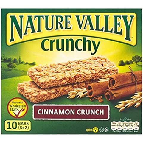 Nature Valley Barrette Di Cereali Croccanti Cannella 5 X 42G (Confezione da 2)