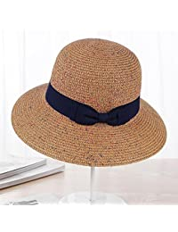 Axiba Sombrero de Paja Verano Visera Sombrero Sol Plegable Sombrero Playa  Playa 06ecfdfda36