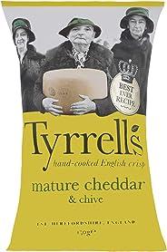Tyrrells Mature Cheddar & Chives Crisps, 150 g