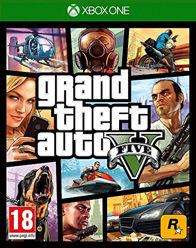 GRAND THEFT AUTO V GTA 5 English, French, Italian, German, Spanish, Russian, Brazilian Portuguese, Polish, Korean, Traditional Chinese, Latin American Spanish [Region Free Mutli-language Edition] Xbox One Game by Rockstar Games