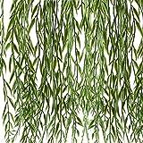 MIHOUNION hängend hängepflanze künstlich plastikpflanzen weide Baum Pflanze grünpflanzen reben künstlich für außen Garten Balkon Girlande heiratsantrag deko 2 Pcs