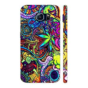 Enthopia Designer Hardshell Case HIGH ON COLOUR Back Cover for Samsung Galaxy S6